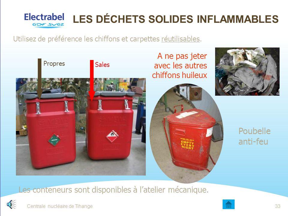 Les déchets solides inflammables