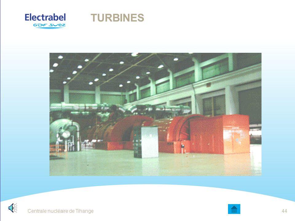 Turbines La vapeur créée au niveau du GV permet d'actionner les turbines. Les turbines entraînent quant à elles l'alternateur.