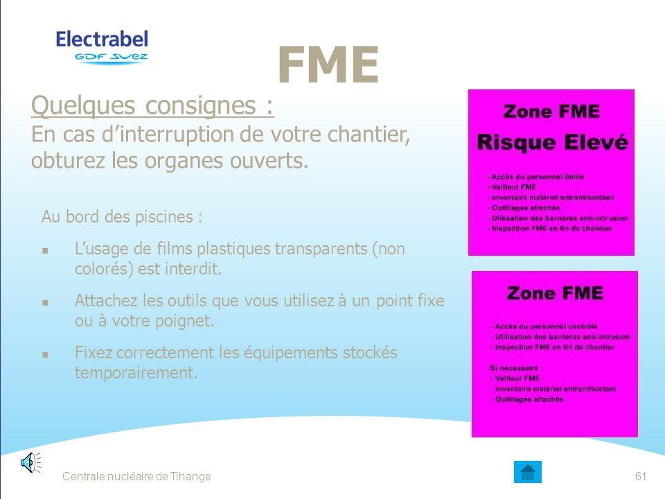FME Quelques consignes :