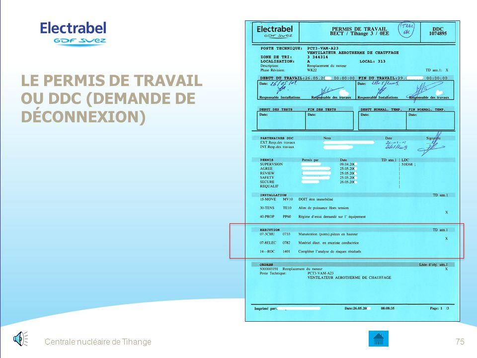 LE PERMIS DE TRAVAIL OU DDC (DEMANDE DE DÉCONNEXION)