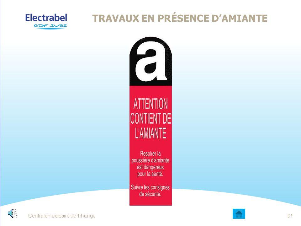 TRAVAUX EN PRÉSENCE D'AMIANTE