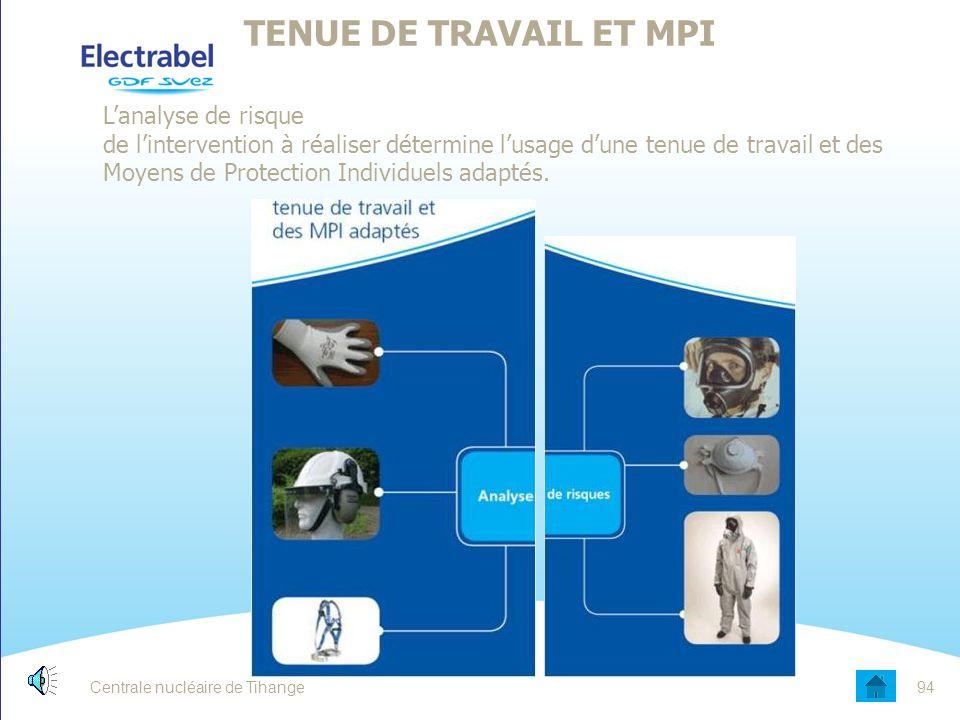 TENUE DE TRAVAIL ET MPI Date.