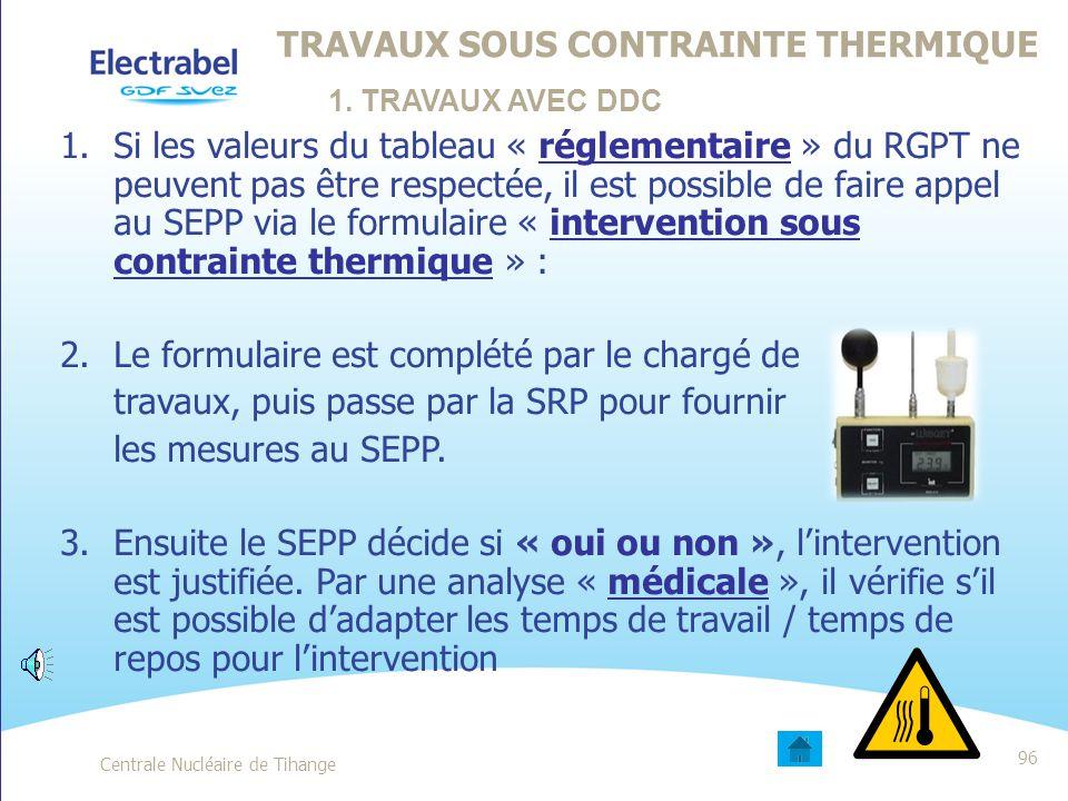 Travaux sous contrainte thermique