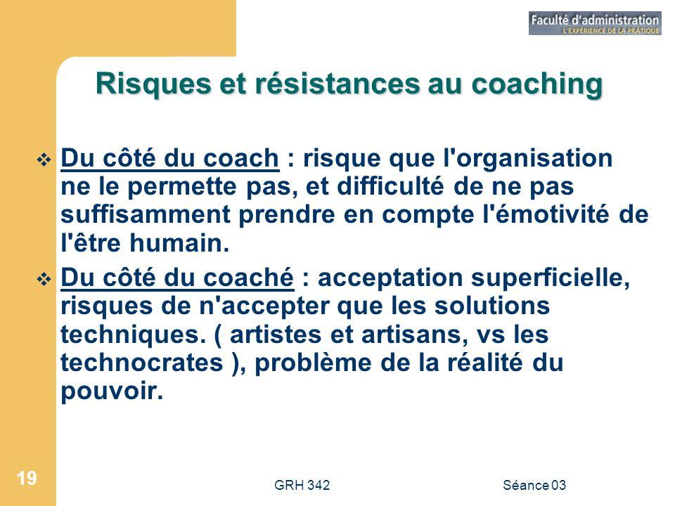 Risques et résistances au coaching