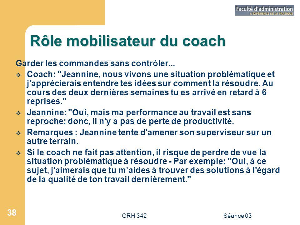 Rôle mobilisateur du coach