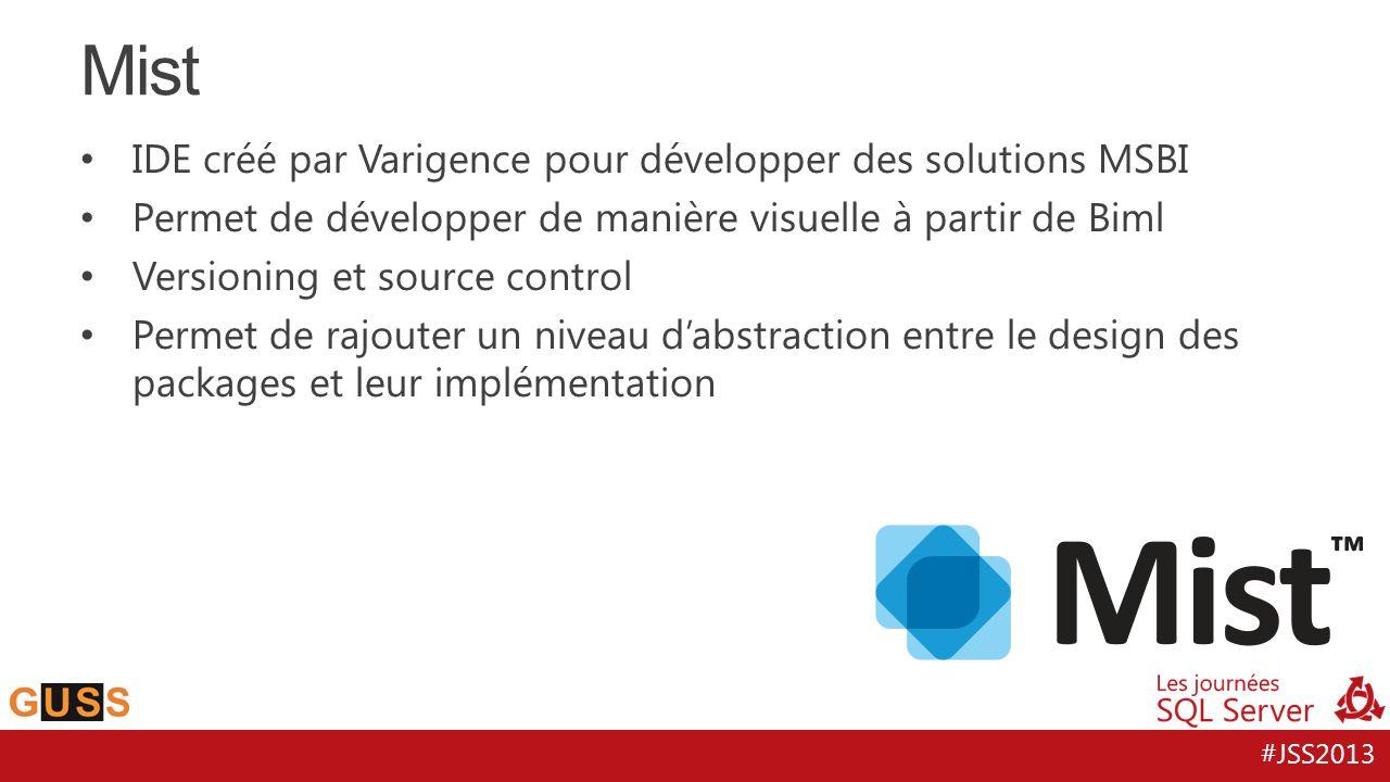 Mist IDE créé par Varigence pour développer des solutions MSBI