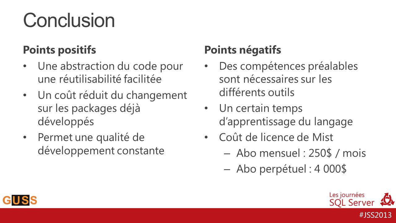 Conclusion Points positifs Points négatifs