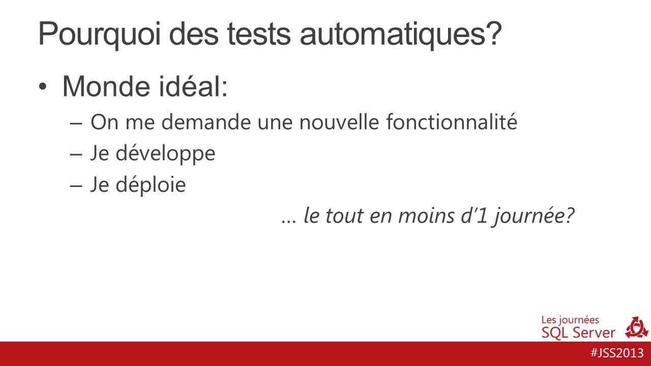 Pourquoi des tests automatiques