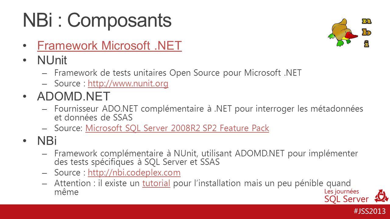 NBi : Composants Framework Microsoft .NET NUnit ADOMD.NET NBi