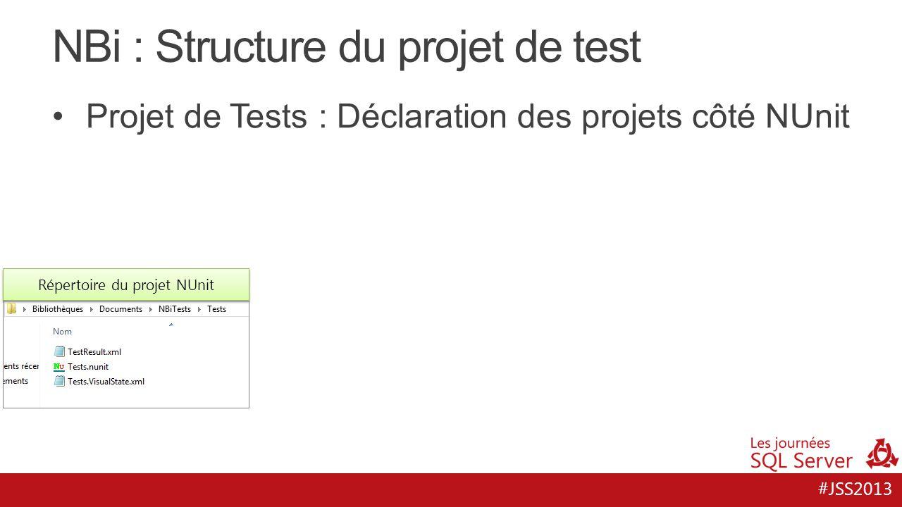 NBi : Structure du projet de test