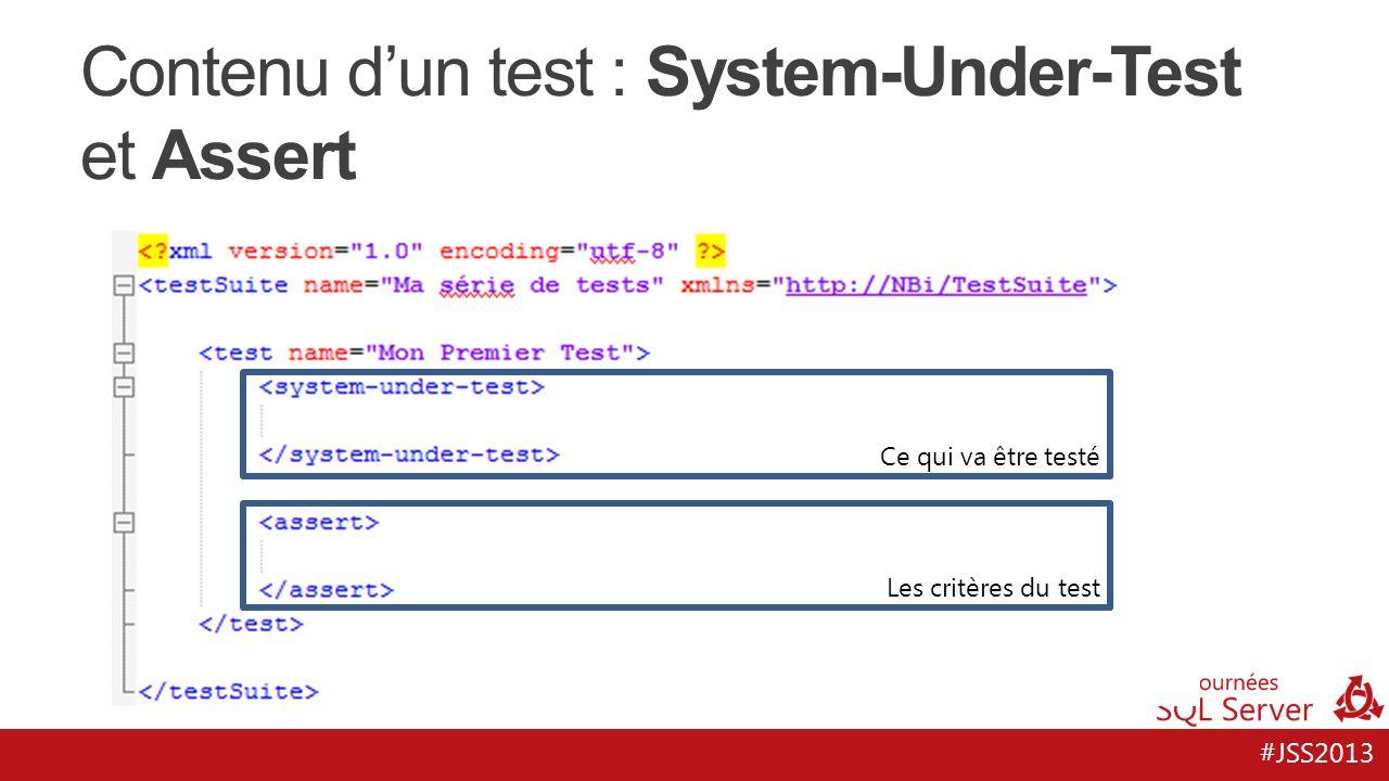 Contenu d'un test : System-Under-Test et Assert