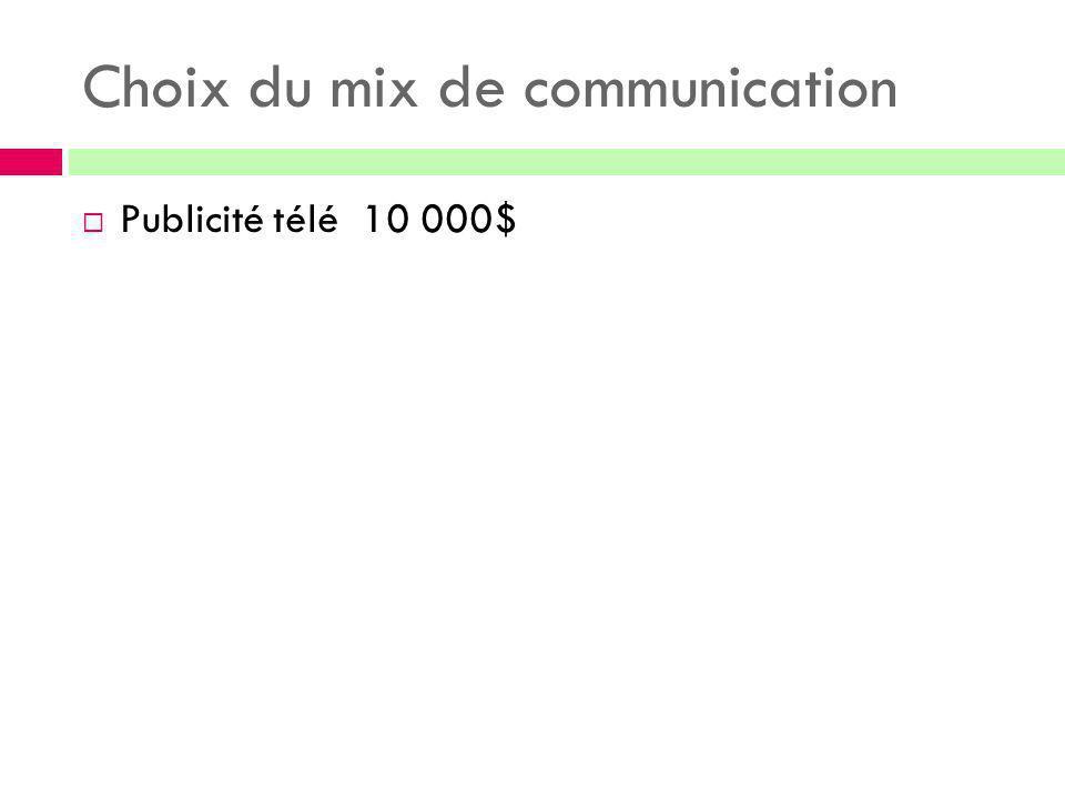 Choix du mix de communication