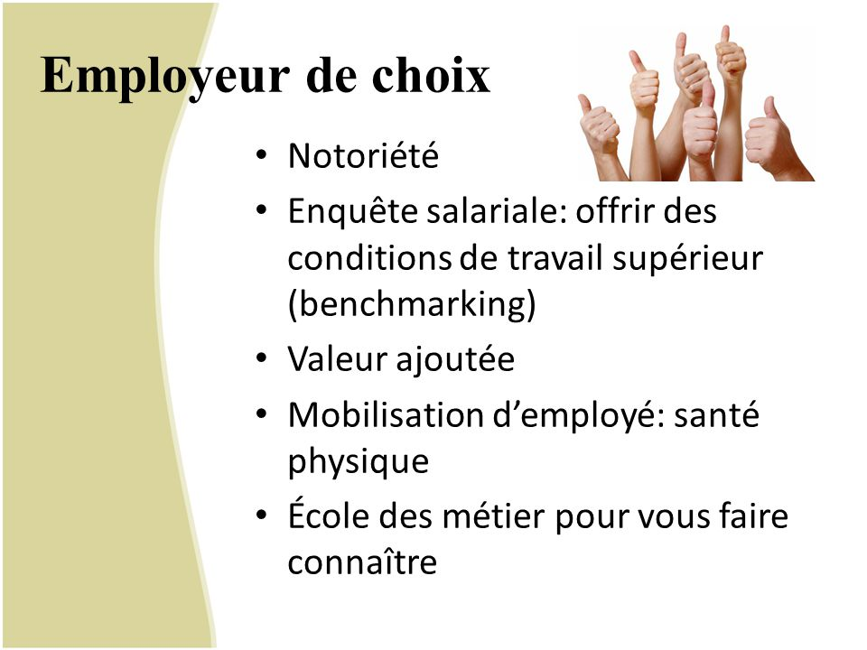 Employeur de choix Notoriété