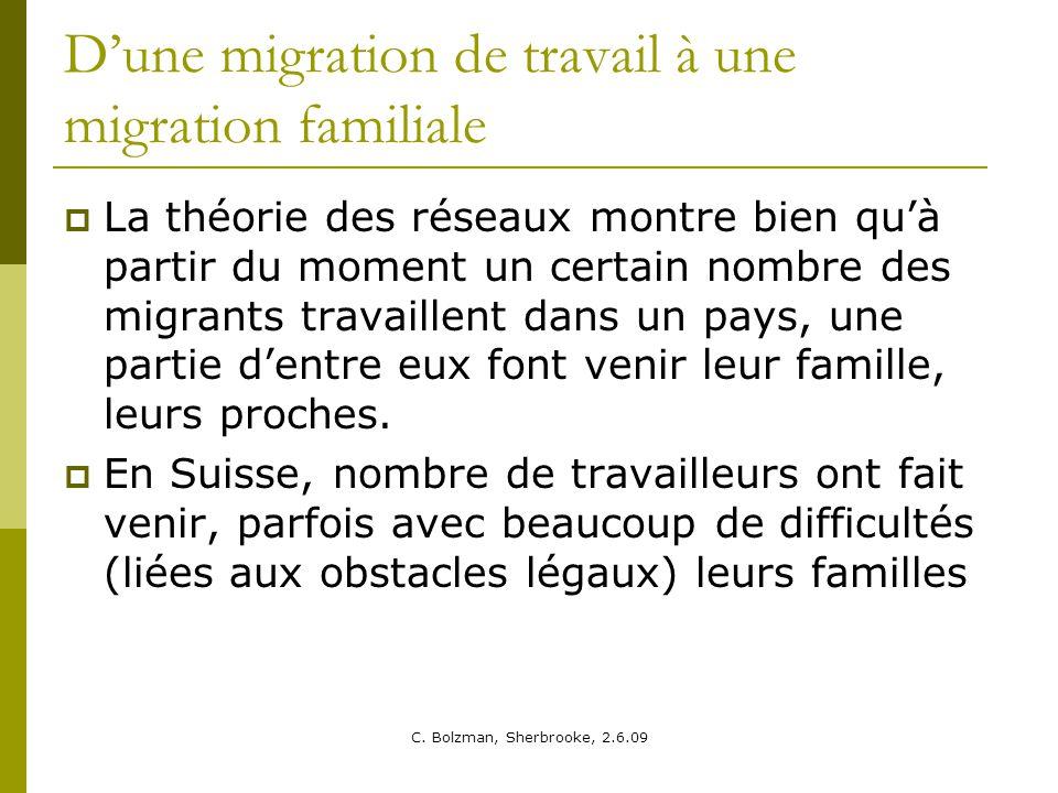 D'une migration de travail à une migration familiale