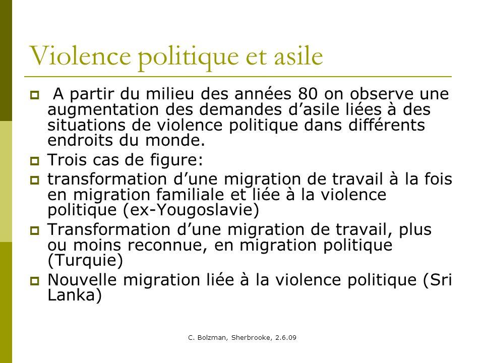 Violence politique et asile