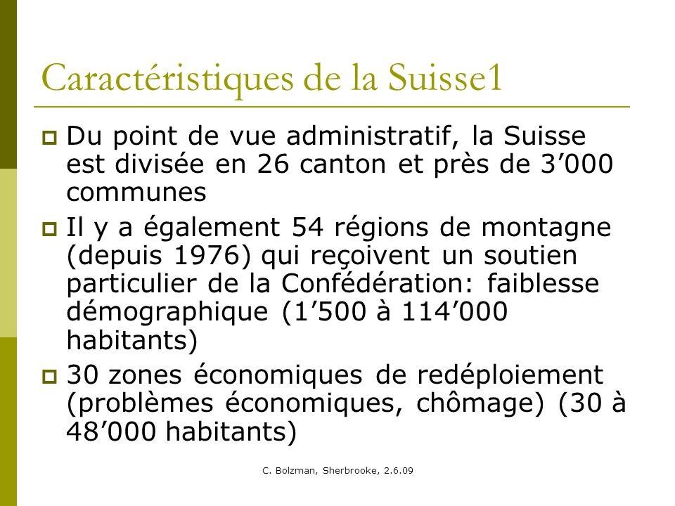 Caractéristiques de la Suisse1