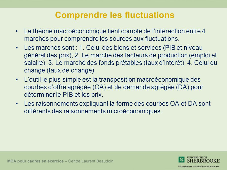 Comprendre les fluctuations