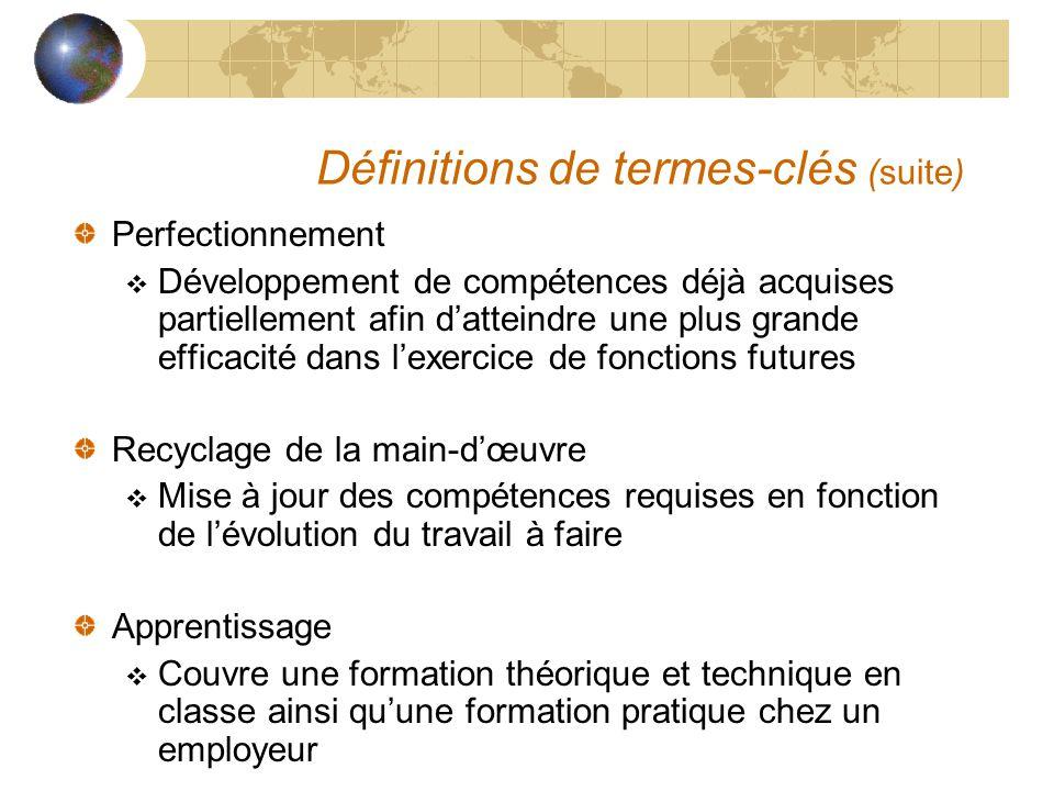 Définitions de termes-clés (suite)