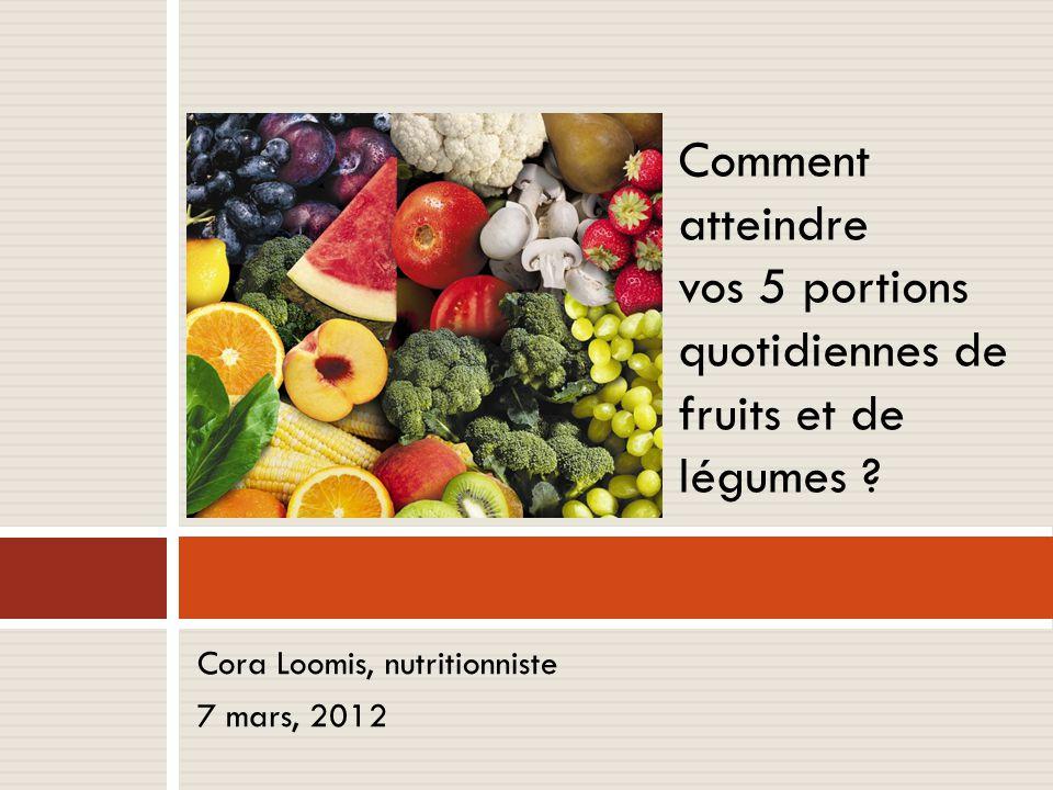 vos 5 portions quotidiennes de fruits et de légumes