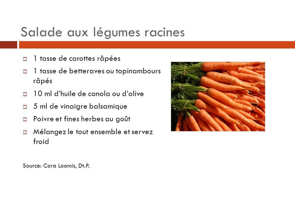 Salade aux légumes racines