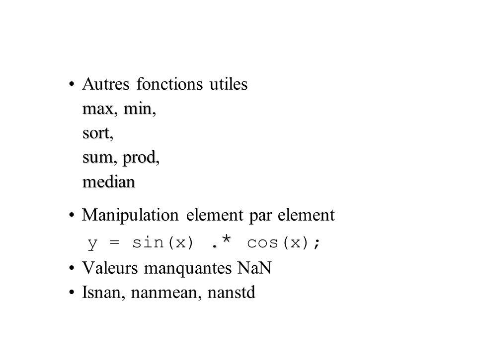 Autres fonctions utiles