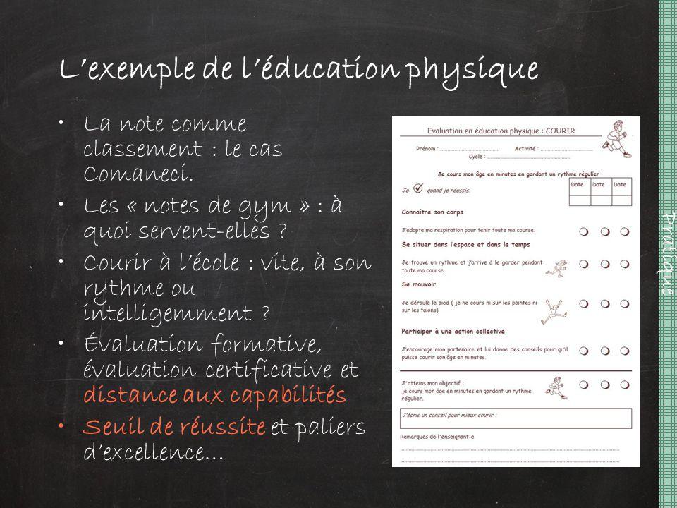 L'exemple de l'éducation physique