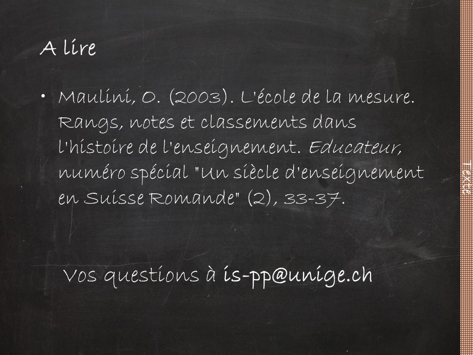 Vos questions à is-pp@unige.ch