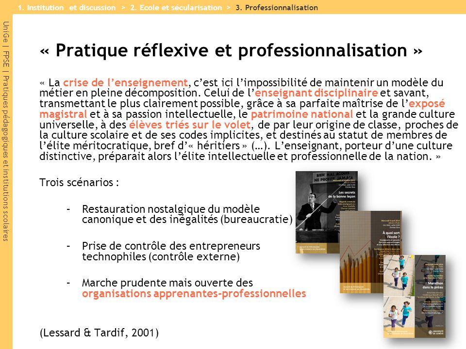 « Pratique réflexive et professionnalisation »