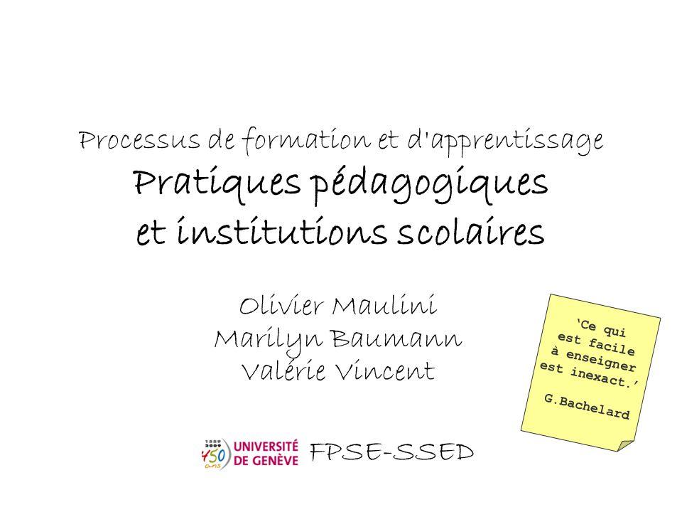 Olivier Maulini Marilyn Baumann Valérie Vincent FPSE-SSED