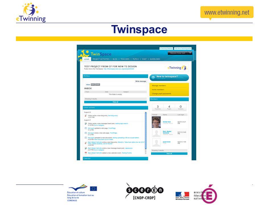 Twinspace Idem desktop : dire que c'est l'espace collaboratif espace « bleu ». Détailler en formation longue (3h mini)