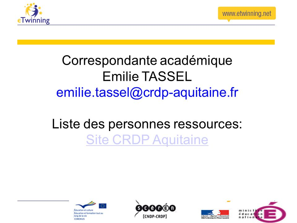 Correspondante académique Emilie TASSEL