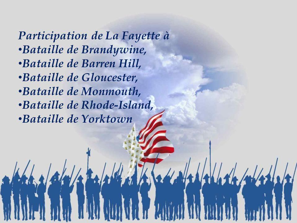 Participation de La Fayette à
