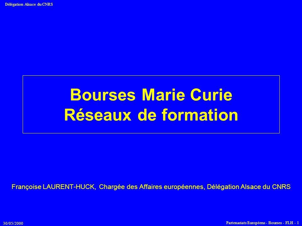 Bourses Marie Curie Réseaux de formation