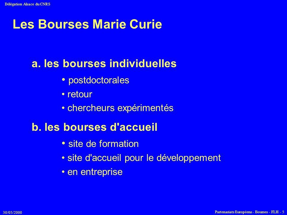 Les Bourses Marie Curie