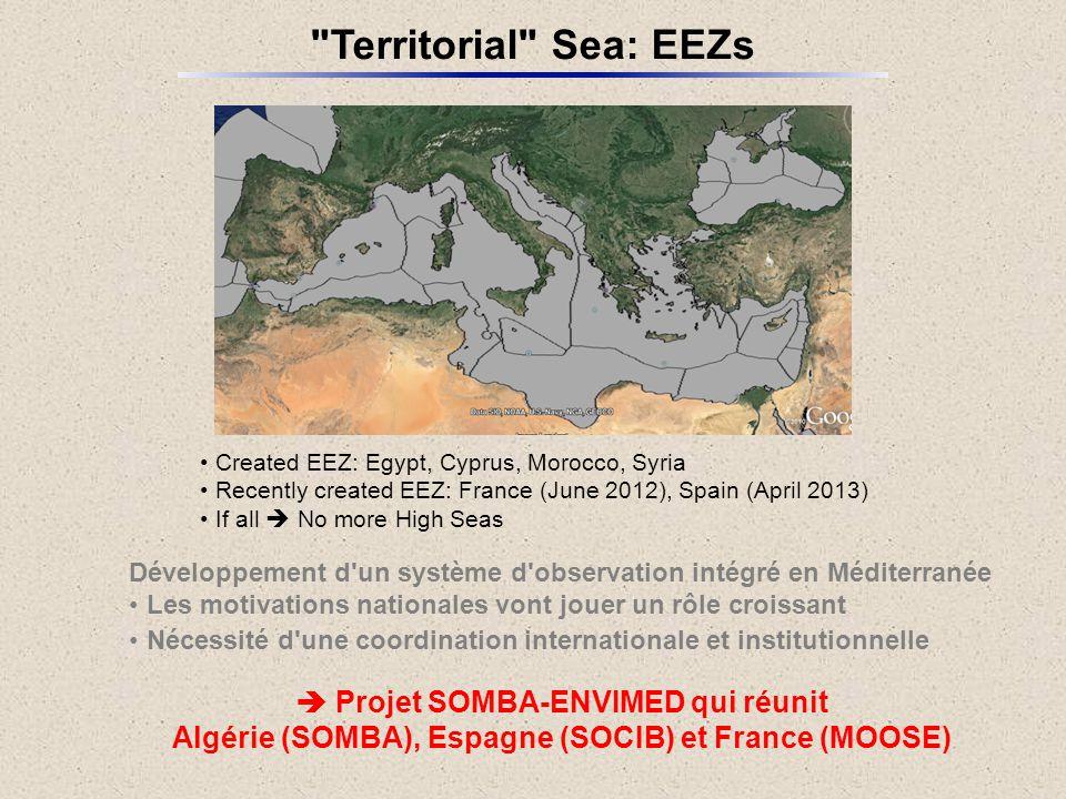 Territorial Sea: EEZs  Projet SOMBA-ENVIMED qui réunit
