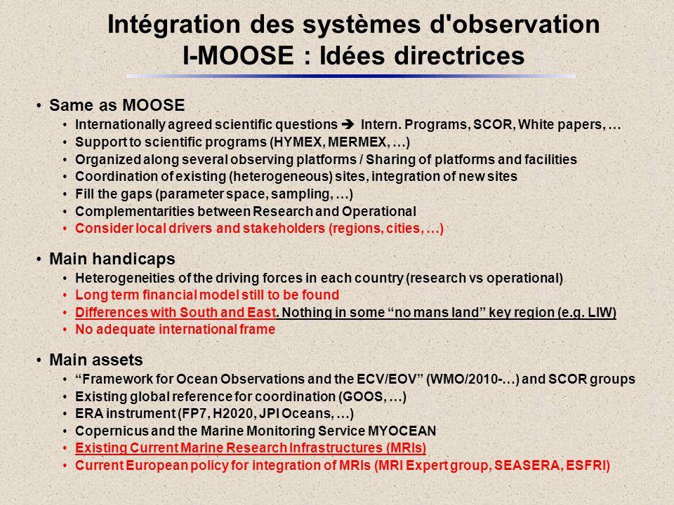 Intégration des systèmes d observation I-MOOSE : Idées directrices