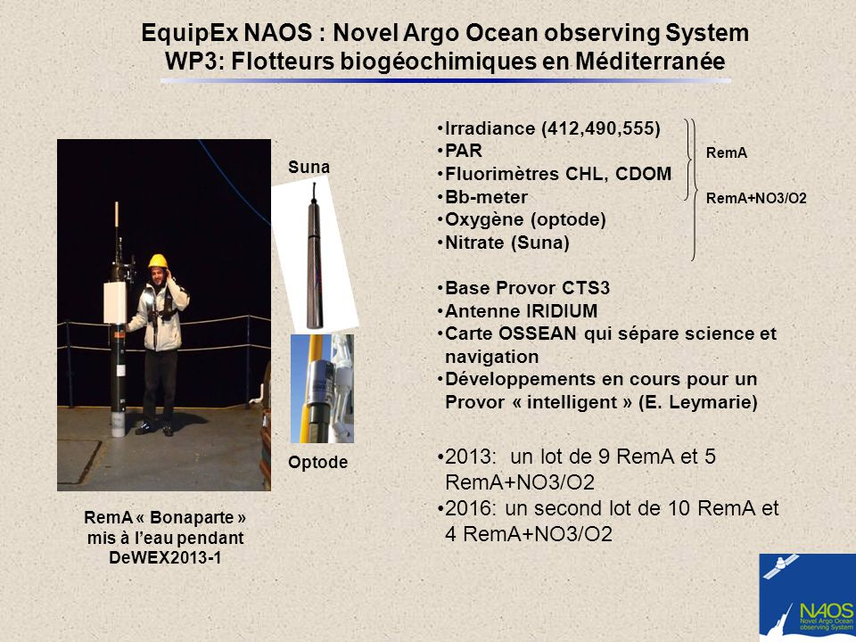 EquipEx NAOS : Novel Argo Ocean observing System