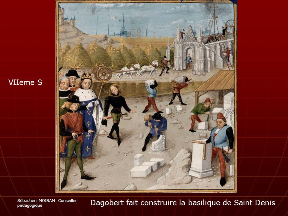 Dagobert fait construire la basilique de Saint Denis