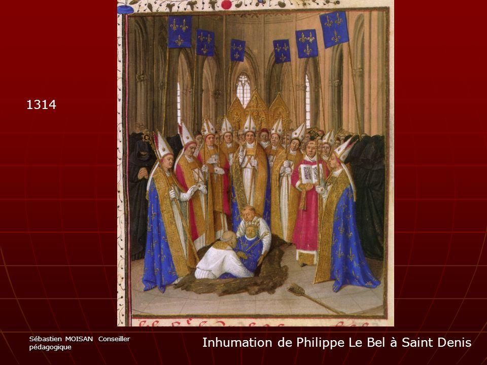 Inhumation de Philippe Le Bel à Saint Denis
