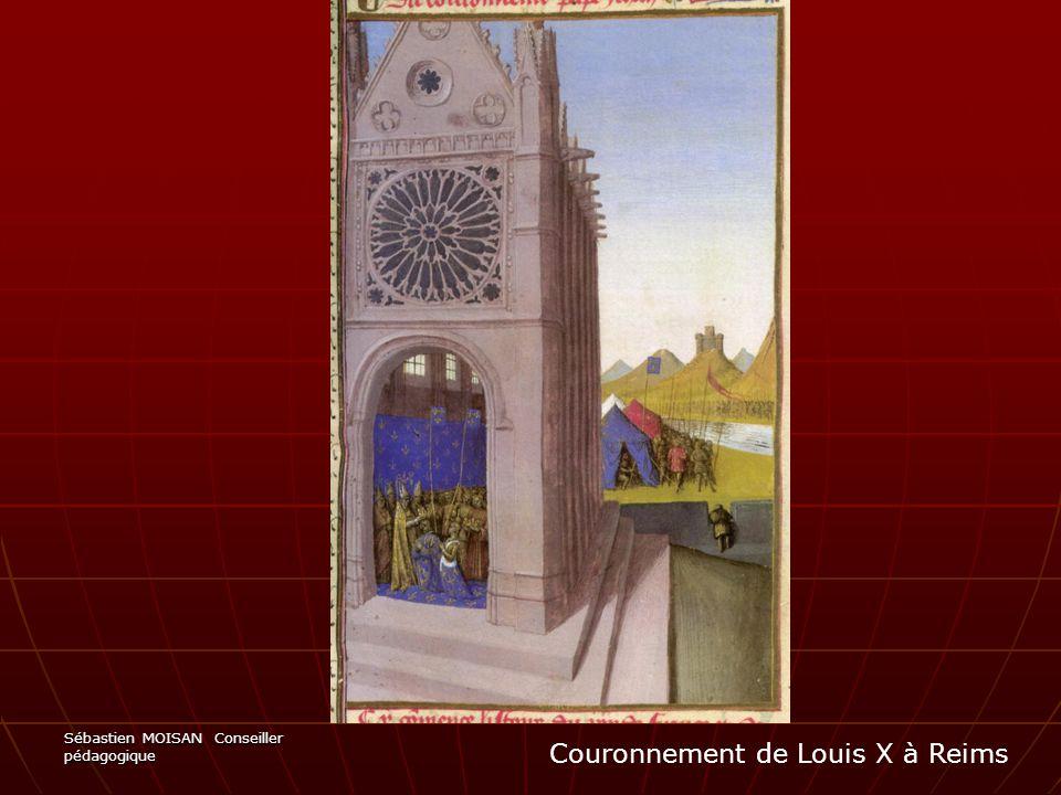 Couronnement de Louis X à Reims