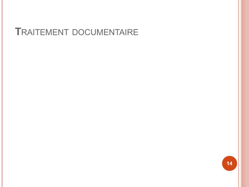 Traitement documentaire