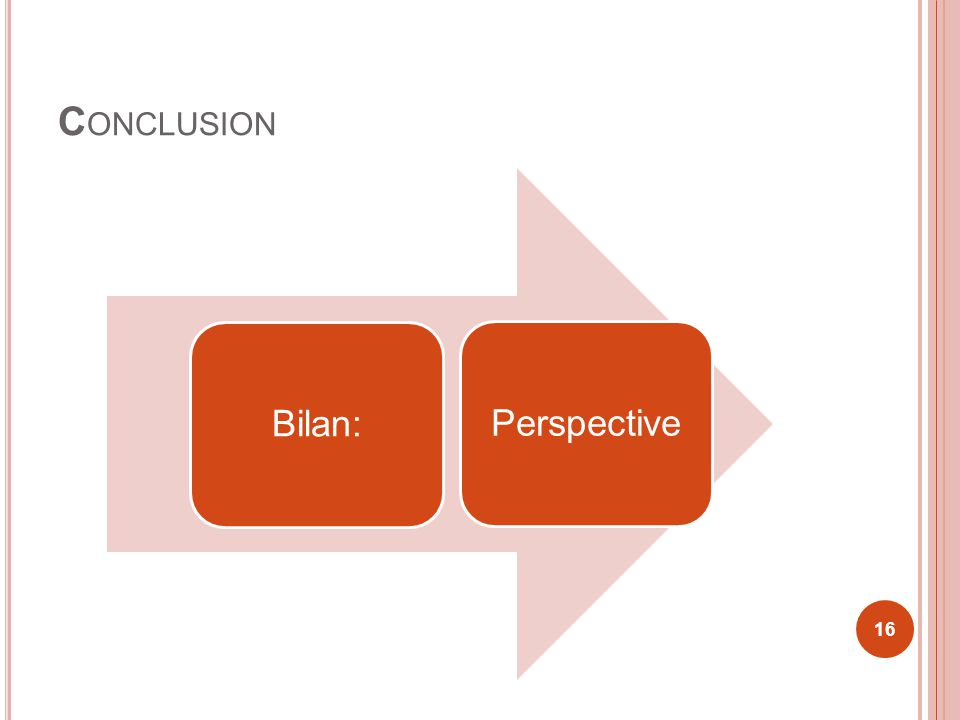 Conclusion Bilan: Perspective