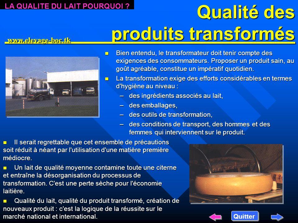 Qualité des produits transformés