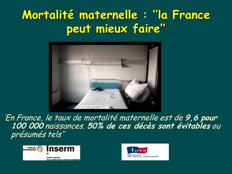 Mortalité maternelle : ''la France peut mieux faire''