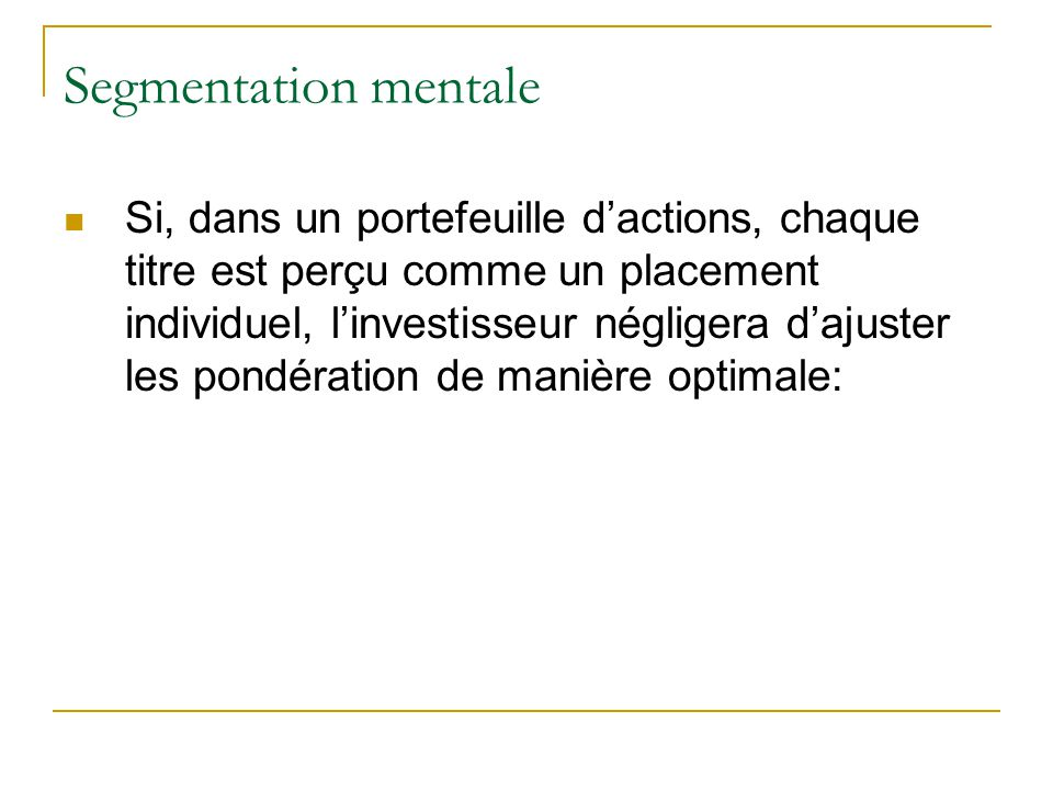 Segmentation mentale