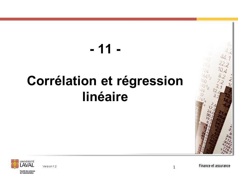 - 11 - Corrélation et régression linéaire