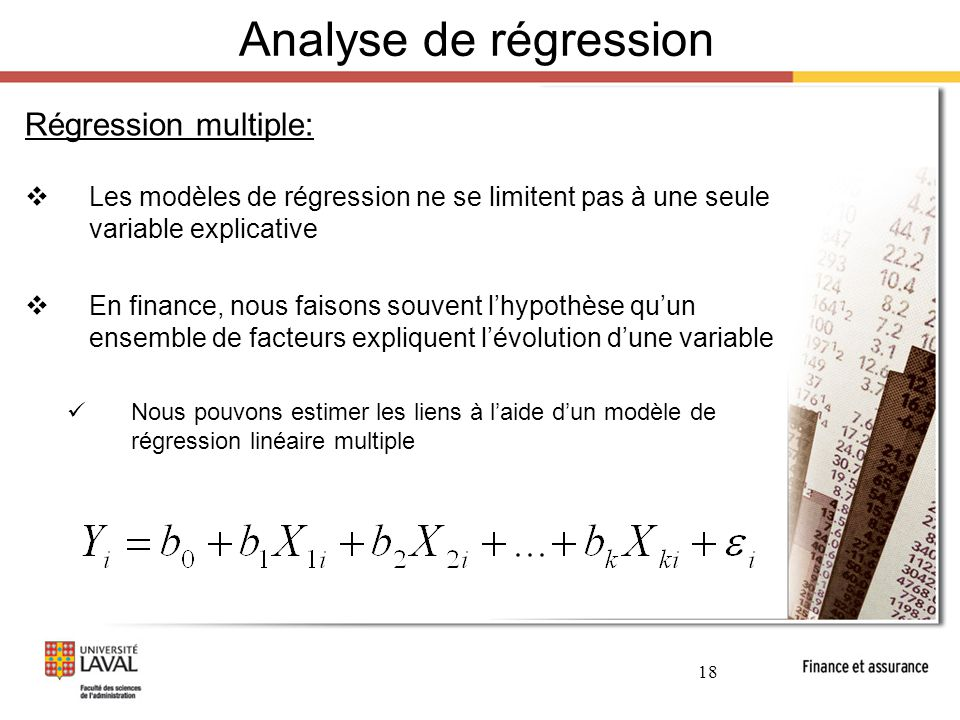 Analyse de régression Régression multiple:
