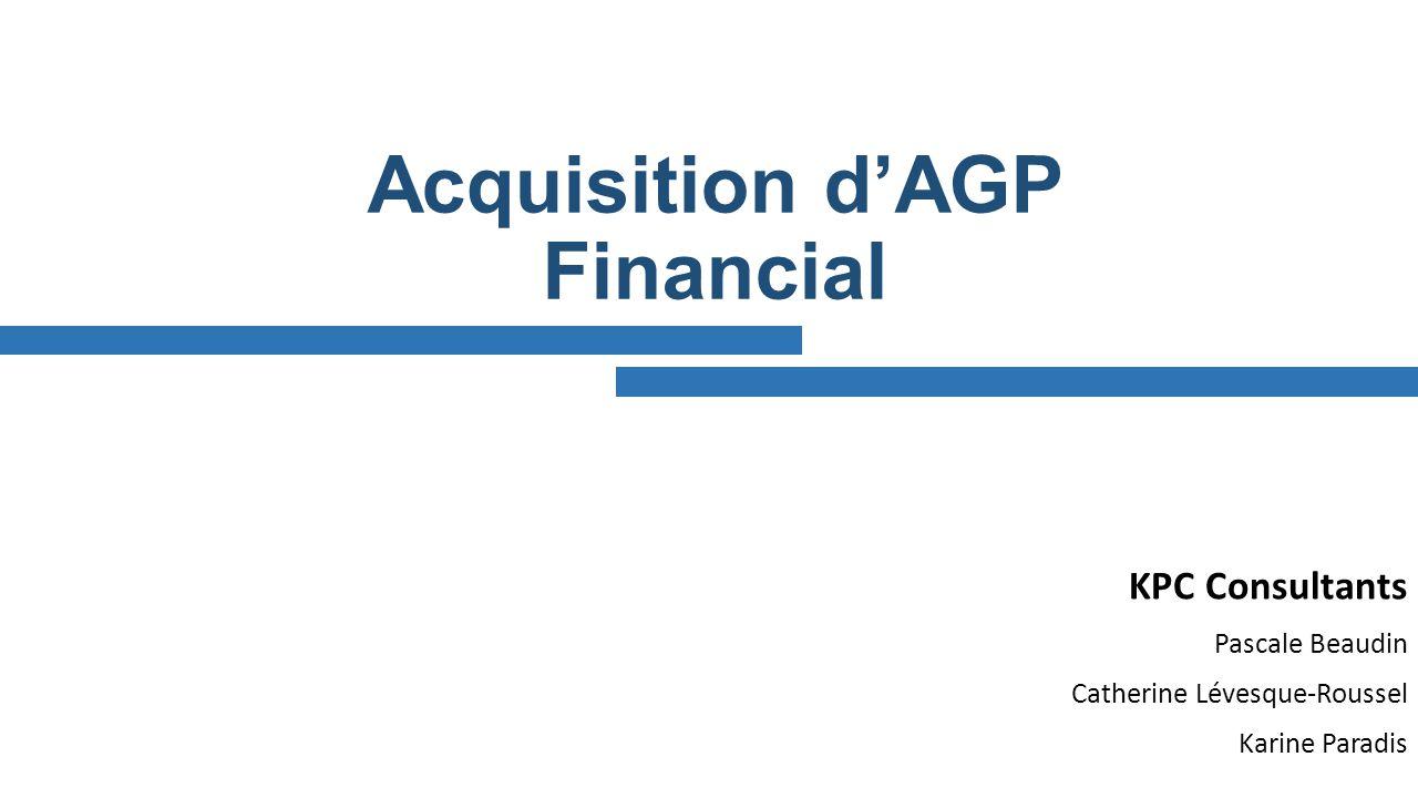 Acquisition d'AGP Financial