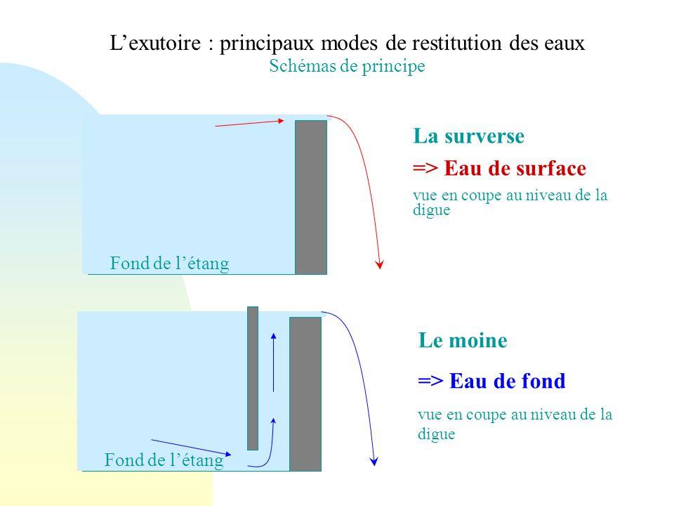 L'exutoire : principaux modes de restitution des eaux