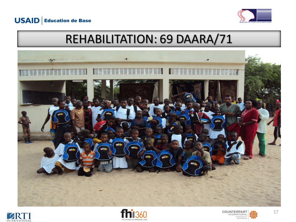 REHABILITATION: 69 DAARA/71